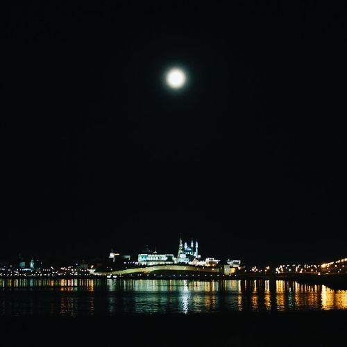 Kazan Kremlin Kazan At Night Moon River Night Lights
