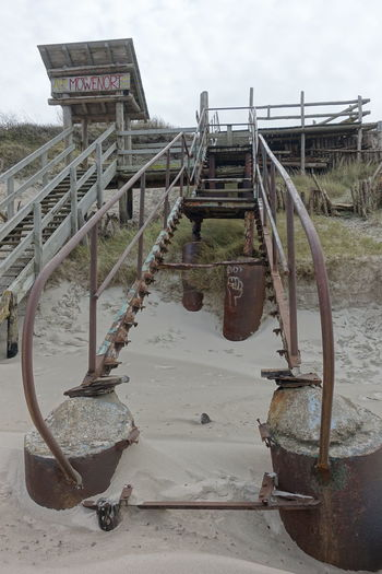 Baltic Sea Baltic Sea In Winter Island Rügen Möwenort Beach Damaged Stairway Day Nature No People Old Stairway To The Beach Outdoors Sky