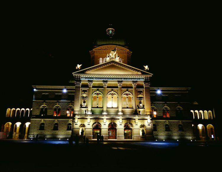 Swiss Capital Cities  Nightphotography Night Lights Rathaus