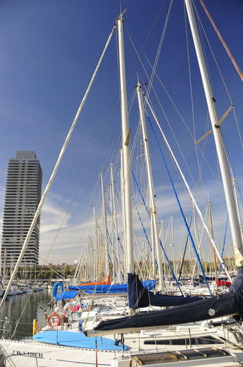Transportation Nautical Vessel Mode Of Transportation Sailboat Water Mast Pole Sky Sea Nature Day Sailing Blue Harbor Travel Moored Architecture Clear Sky No People Outdoors Yacht Rigging Luxury Marina Yachting
