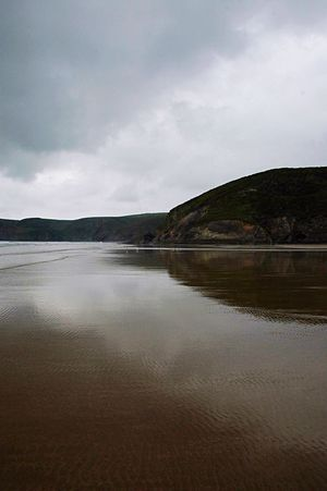 Pembrokeshire Beach Water Reflections Sea And Sky Seascape Seaside Sea Sand