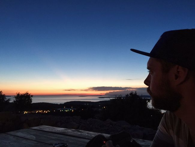 """Where Are Ü Now"" @ Vidikovac, Mali Losinj, Croatia, 2016. Mali Lošinj Veli Lošinj Losinj Croatia Sunset Portrait Where Are You Now Where Distance Looking In The Future Looking Into The Sun Looking In The Distance Landscape Nature Nightlights Seascape Seaside"
