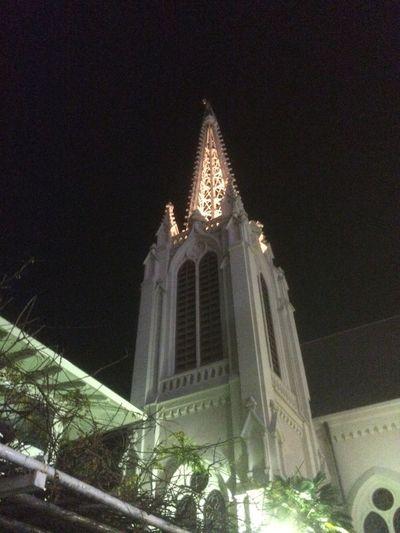 Illuminated Streetphotography Taking Photos Church