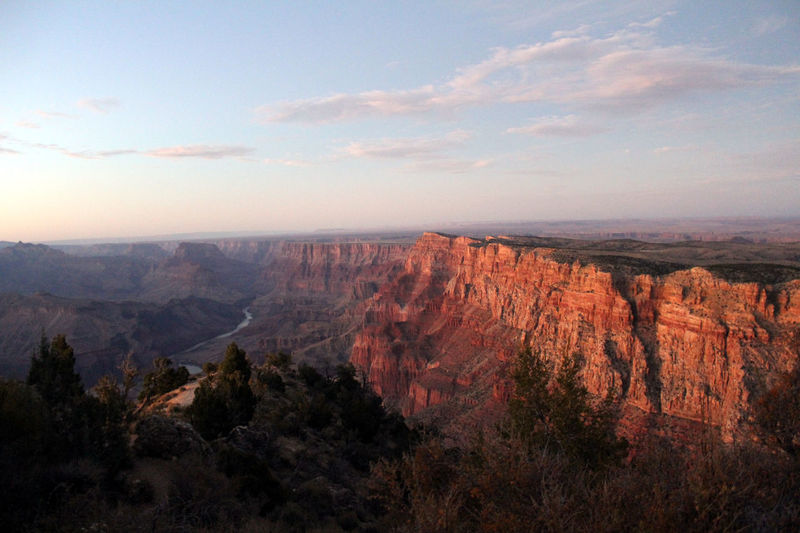Grand Canyon at sunset, from Desert View Point. Grand Canyon Grand Canyon National Park Red Beauty In Nature Desert View Landscape Mountain Nature No People Outdoors Scenery Scenics Sky South Rim Sunset Tranquility