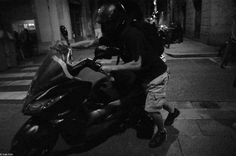 URGENT Motorcycles Black And White RICOH GR 2 Barcelona Person Monochrome Photography