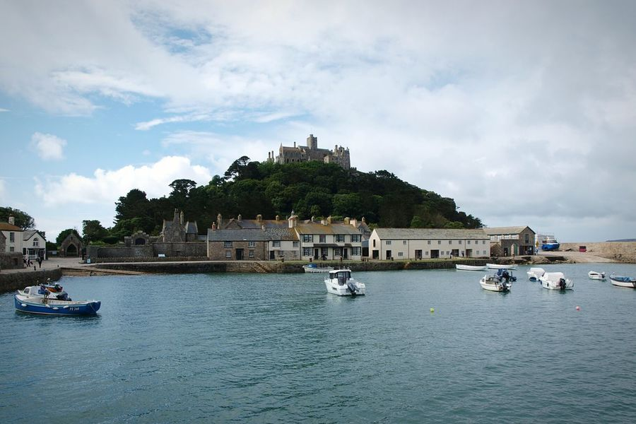 St Michaels Mount Castle Island Harbour Boats Boat Ride South Coast Summer Road Trip