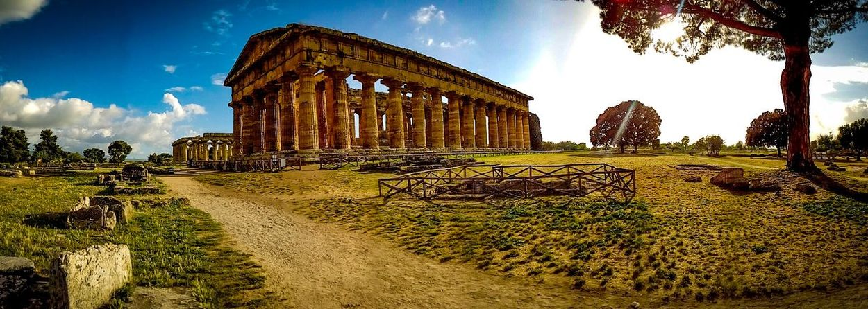 Paestum Cloud - Sky Archaeology Travel Destinations Sky Tourism Religion Travel Architectural Column Place Of Worship Day Building Exterior Spirituality No People