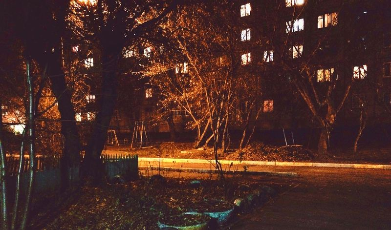 Night time No People City Krasnoyarsk Autumn