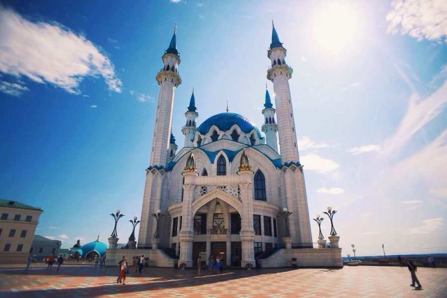 Architecture Spirituality Religion Built Structure Building Exterior Tourism Sky Church Tourist Famous Place Cloud View Travel Welcometorussia Russia Kazan