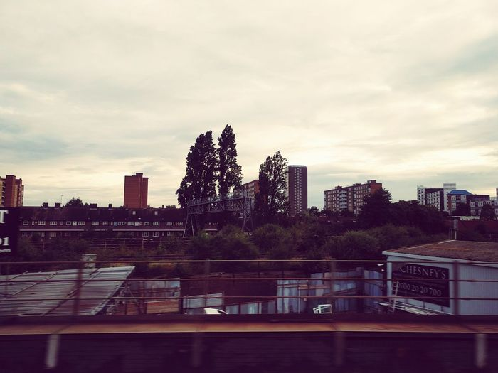 Shot From My Window of Gatwick Express Train. Urban Cityscapes