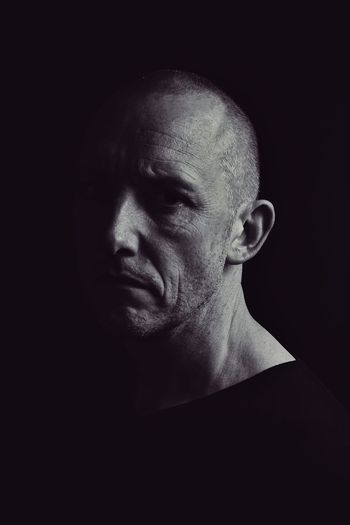 solipsism 02 Portrait Self Portrait Self Portrait Photography Chiaroscuro  Black Black And White Solitude Alone... Headshot One Person Black Background Adult Mature Adult Mature Men Human Face Real People Skin Skinhead