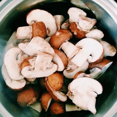 Garlic mushrooms are heavenly