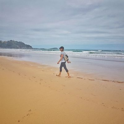 Playaoriñon Cantabria Canon Beach Water One Person Real People Lifestyles Beauty In Nature Nature Sand Sea Paseando
