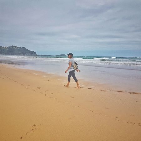 Beach Oriñon Cantabria Water Land One Person Real People Sea Lifestyles Beauty In Nature Horizon Over Water