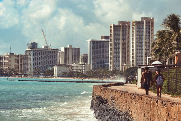 You, me & Waikiki. Hawaii Hawaii Life Ocean Beach Love Water Sea Outdoors Nature Couple Photography