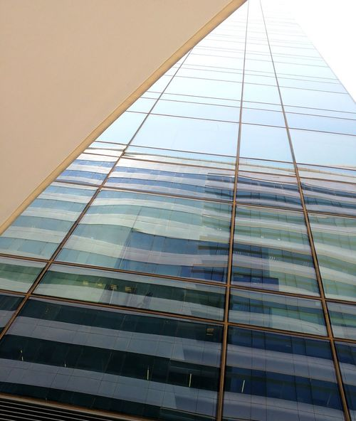 Reflection Stripes Bottom To Top View Buildinds Building Building Exterior Reflections