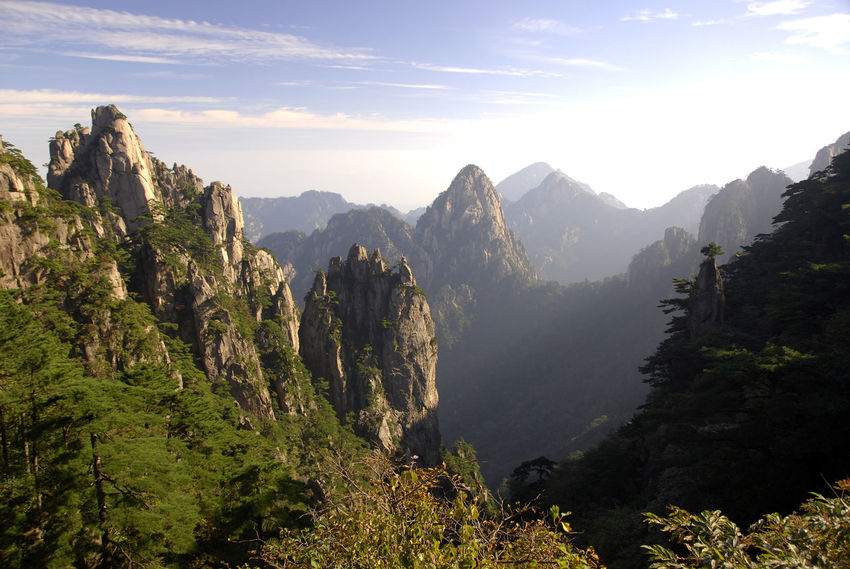 Anhui Beauty In Nature China Day High Huangshan Landscape Mountain Nature No People Outdoors Peak Scenery Scenics Sky Tranquil Scene Tranquility Travel Destinations Yellow Mountain