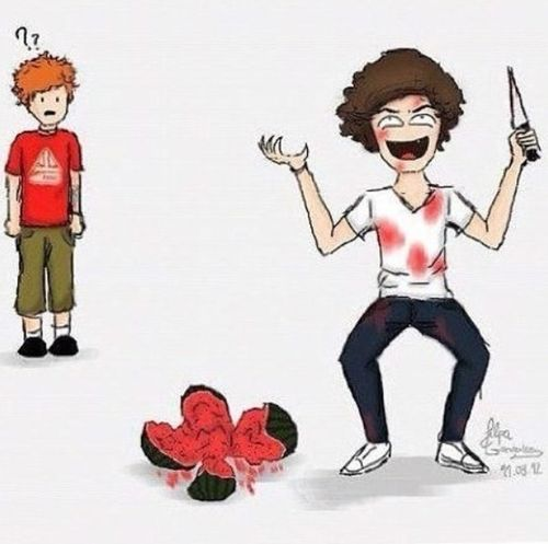 Harry Styles and Watermelon Follow4follow Follow Me