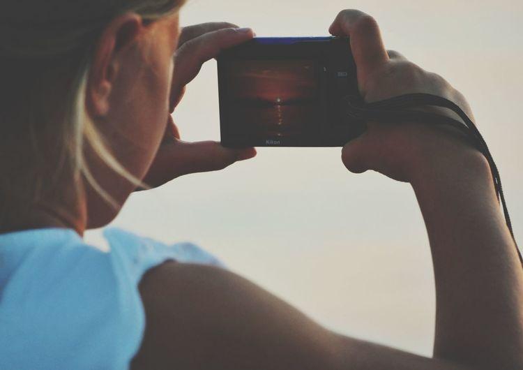 Samsung Smart Camera NX300 Taking Photos Of People Taking Photos Sunset