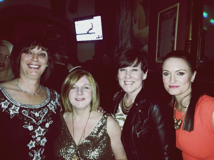 With The Girls ❤ Mischief Fun with mum and her friends. left to right, mum, Lynn, Trish and me!