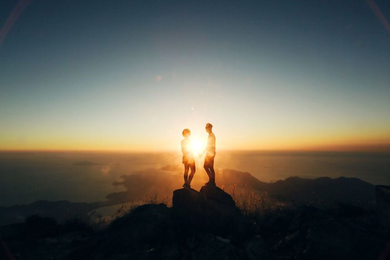 Sunrise World HongKong Mountains Exploring Nature Couple Love Pmg_hok Social Media Collection