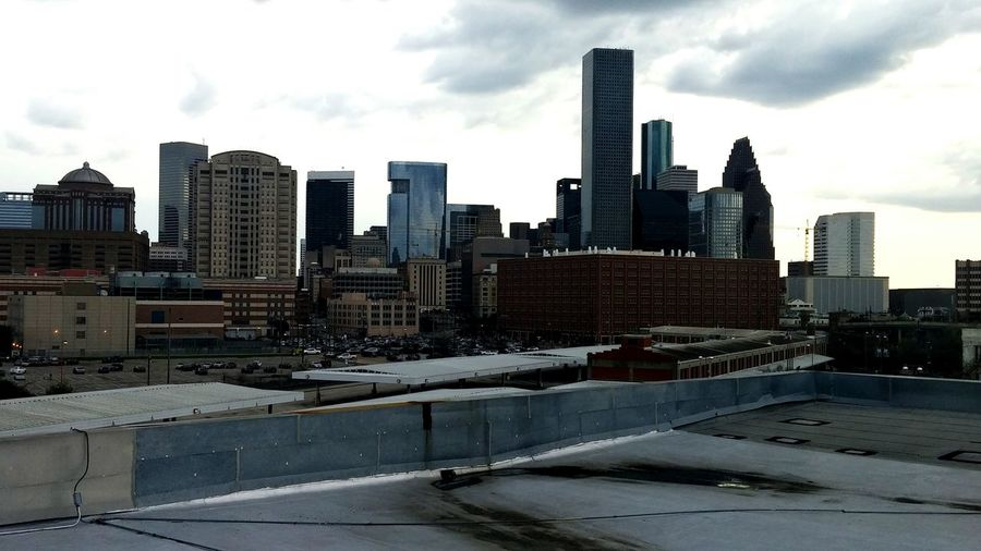 Looking Into The Future Downtown Houston Check This Out Having Fun :) Goodmorning City Skyline Thatviewtho Beauty Hanging Out