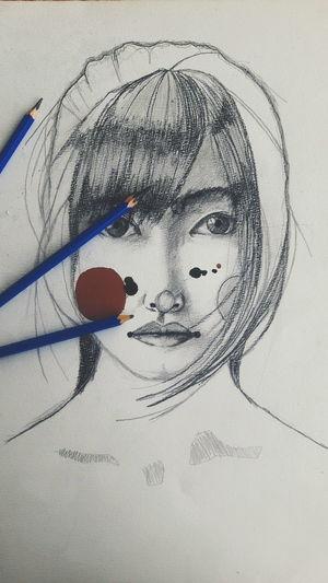 Graphic Design Illustration Sketchbook Artist Color Portrait Portrait Art Dream Posterart Pencil Person Messy Young Adult Human Hair