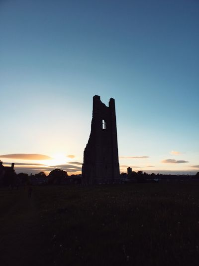 Architecture Built Structure Day Historical Building History Ireland Irish No People Outdoors Sky Sunset Travel Travel Destinations Yellow Tower