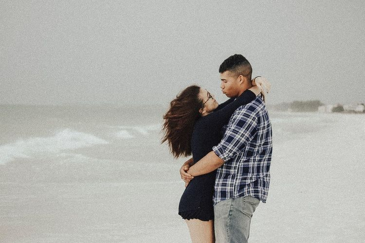 Two People Togetherness Love Bonding Casual Clothing Embracing Couple - Relationship People Leisure Activity Standing Adult Day Young Adult Friendship Young Women Outdoors Sky Nature This Is Masculinity