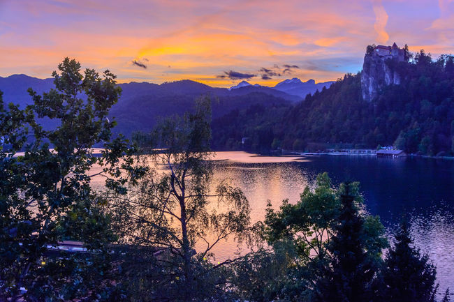 Water Sky Tree Sunset Scenics - Nature Beauty In Nature Cloud - Sky Lake Tranquil Scene Tranquility Plant Mountain Nature Reflection No People Idyllic Outdoors Non-urban Scene Mountain Range