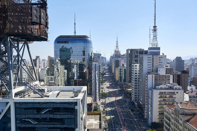 Avenida paulista in sao paulo city, brazil.