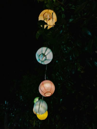 Lanterne Cinesi Lantern Lanterna Lanterns In A Night Sky Lanterne Hanging Night No People Outdoors The Week On EyeEm