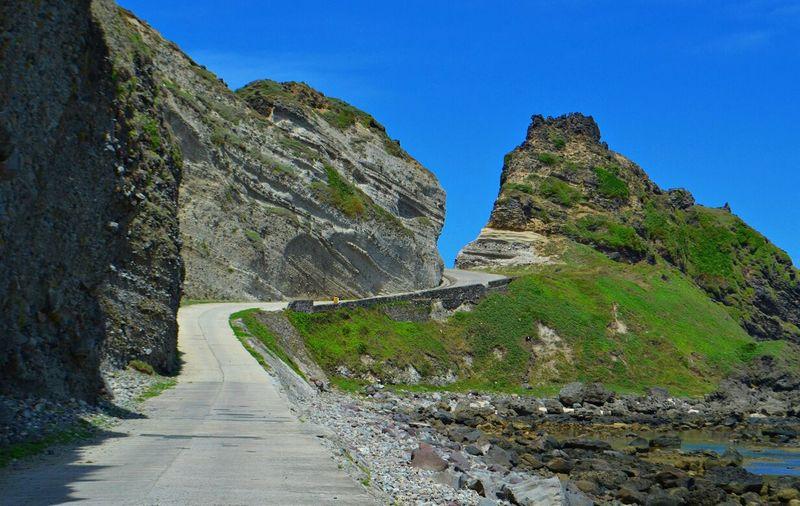 Empty coast line road