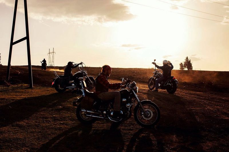 Transportation Motorcycle Mode Of Transport Riding Adventure Land Vehicle Full Length Sky Motocross People Outdoors Sunset Friendship Adult Men Adults Only Headwear Sports Race Day The Week On EyeEm Editor's Picks EyeEmNewHere