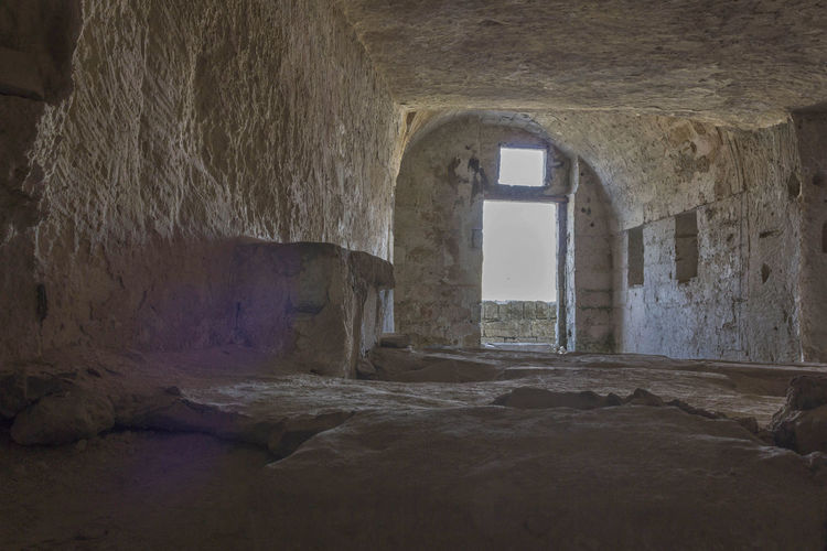Matera Italy Unesco UNESCO World Heritage Site Cave Grotto Grotta Indoors  Architecture Built Structure No People Window Day Building Abandoned History The Past Solid Old Rock - Object Rock Wall Arch Damaged Obsolete Wall - Building Feature Deterioration Ancient Civilization Ruined