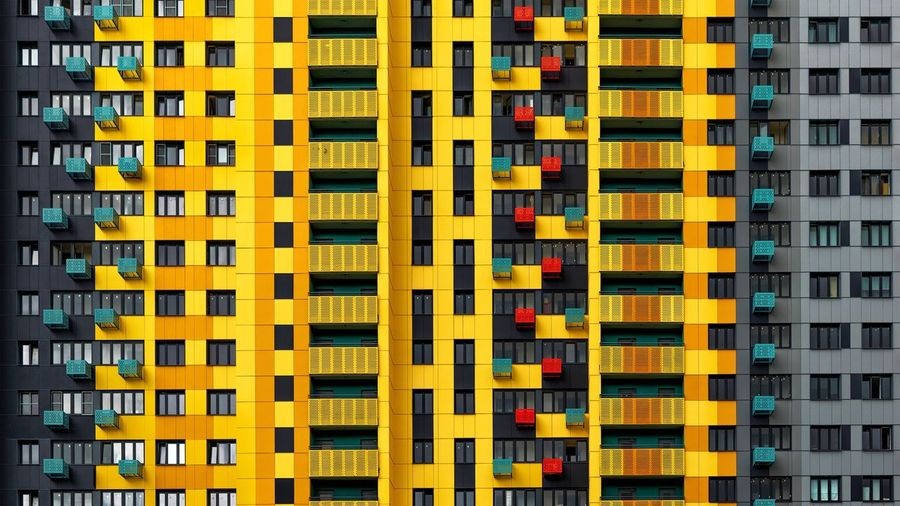 Yellow Multi Colored Full Frame Backgrounds No People Day Outdoors Architecture Close-up Investing In Quality Of Life The Week On EyeEm Paint The Town Yellow The Architect - 2018 EyeEm Awards Capture Tomorrow