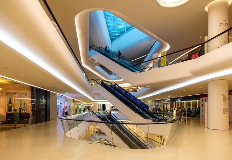 A great nice new luxury shopping mall in the center of Bangkok. Architecture Bangkok Bangkok Thailand. Central Embassy Escalators Indoors  Interieur Interieurdesign Luxury M Shopping Mall Store Yellow First Eyeem Photo
