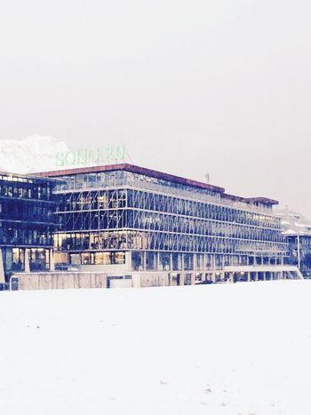 Architecture Winter Façade Snow
