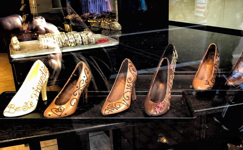 Chocholate EyeEm Selects Shoe Store Arrangement