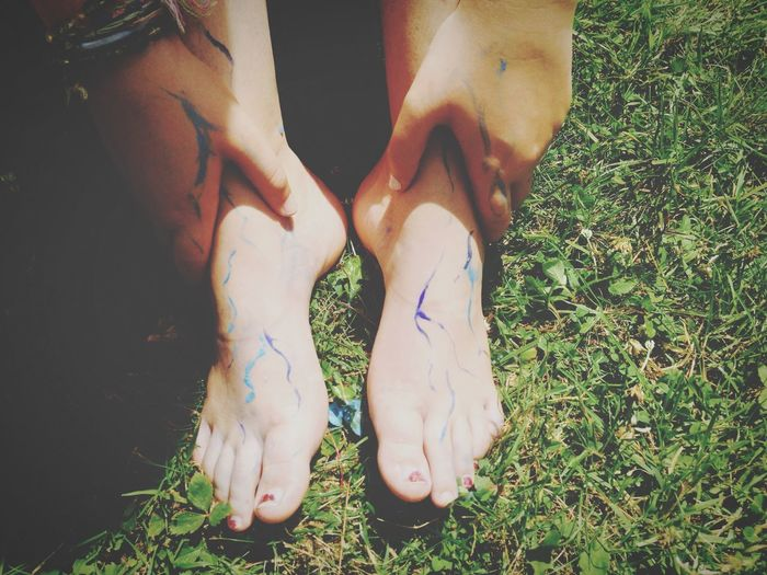 Barefoot paint running through my veins