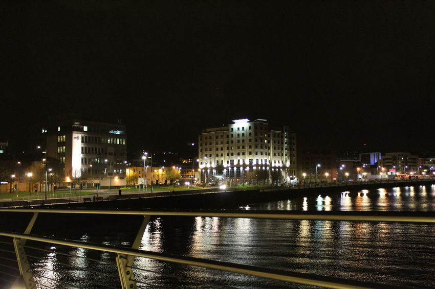 Night view City Ireland Lights Nightphotography Architecture Bridge Building Building Exterior Built Structure City Connection Copy Space Illuminated Nature Night Nightlife No People Outdoors Reflection River Sky Street Travel Destinations Water Waterfront The Great Outdoors - 2018 EyeEm Awards The Architect - 2018 EyeEm Awards