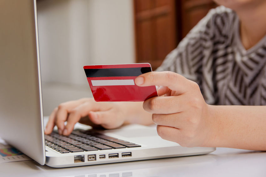 woman hand holding credit card and using laptop making online payment online, online shopping Electronic Security Shopping Adult Banking Computer Concert Connection Credit Card E Commerce Finance Holding Internet Laptop Laptop Keyboard Lifestyles Online  Order Pay Payment Purchase Store Technology Using Laptop Women