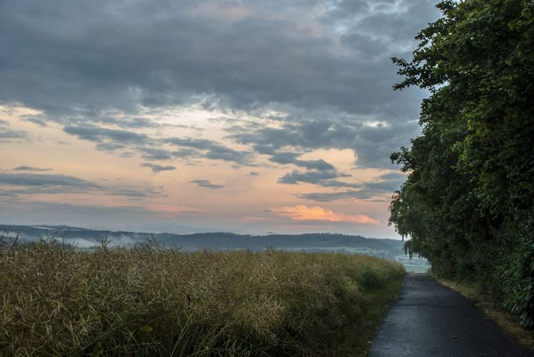 Afterrain Clouds Fog Sunset Landscape