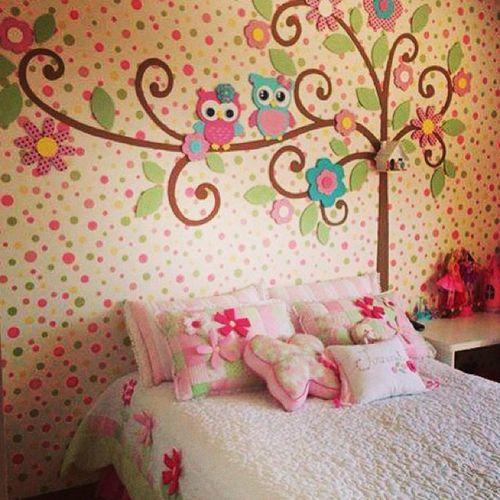 Girlhabits Girl Girlybedroomdesigns Owls cuteowls girly bedroom bedroomdesigns kidsbedroom