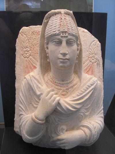 Grav Sculpture 2.century a.Chr. Museum Pammyra Human Representation Idol Indoors  No People Religion Sculpture Spirituality Statue