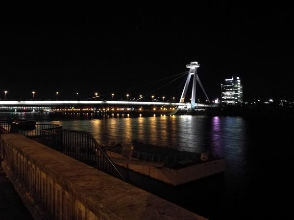 I love the city in the night. SNP bridge in Bratislava. Night Bridge - Man Made Structure Transportation Architecture Built Structure Connection Sky City Outdoors City Life Building Exterior Travel Destinations No People No Filter, No Edit, Just Photography Bratislava City! Slovakia🇸🇰 Bridge Outdoor Photography Outdoor Dark Photography Noperson No Filter River Danube Danube River