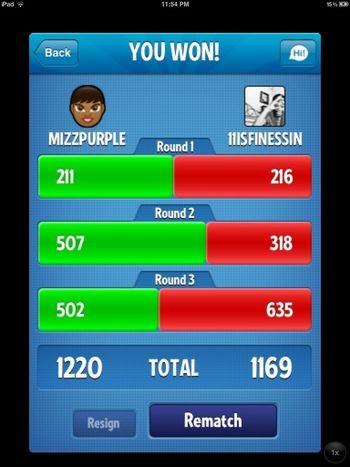 I finally beat him!!!!'