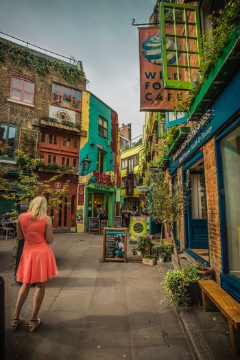 Colourful Exterior Neal's Yard Summer Building Exterior Architecture Built Structure Full Length One Person Real People Outdoors Day