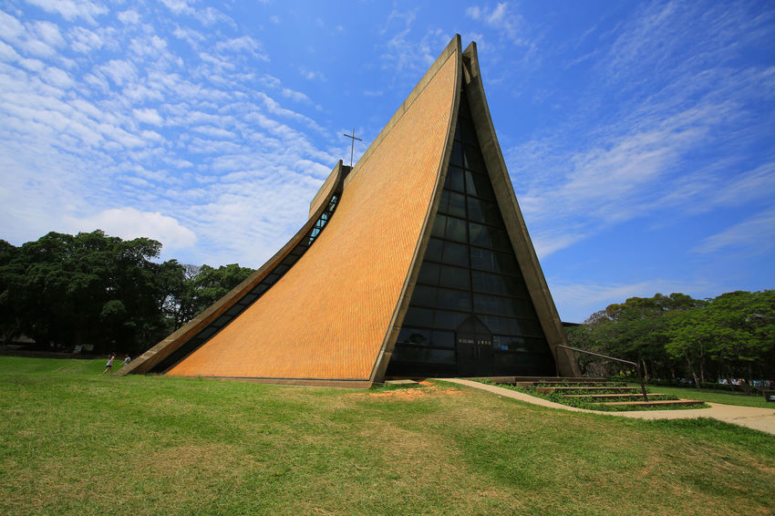 Tunghai University Church Taiwan Travel Photography Tunghai University Architecture Building Building Exterior Built Structure No People Outdoors Pyramid Sky