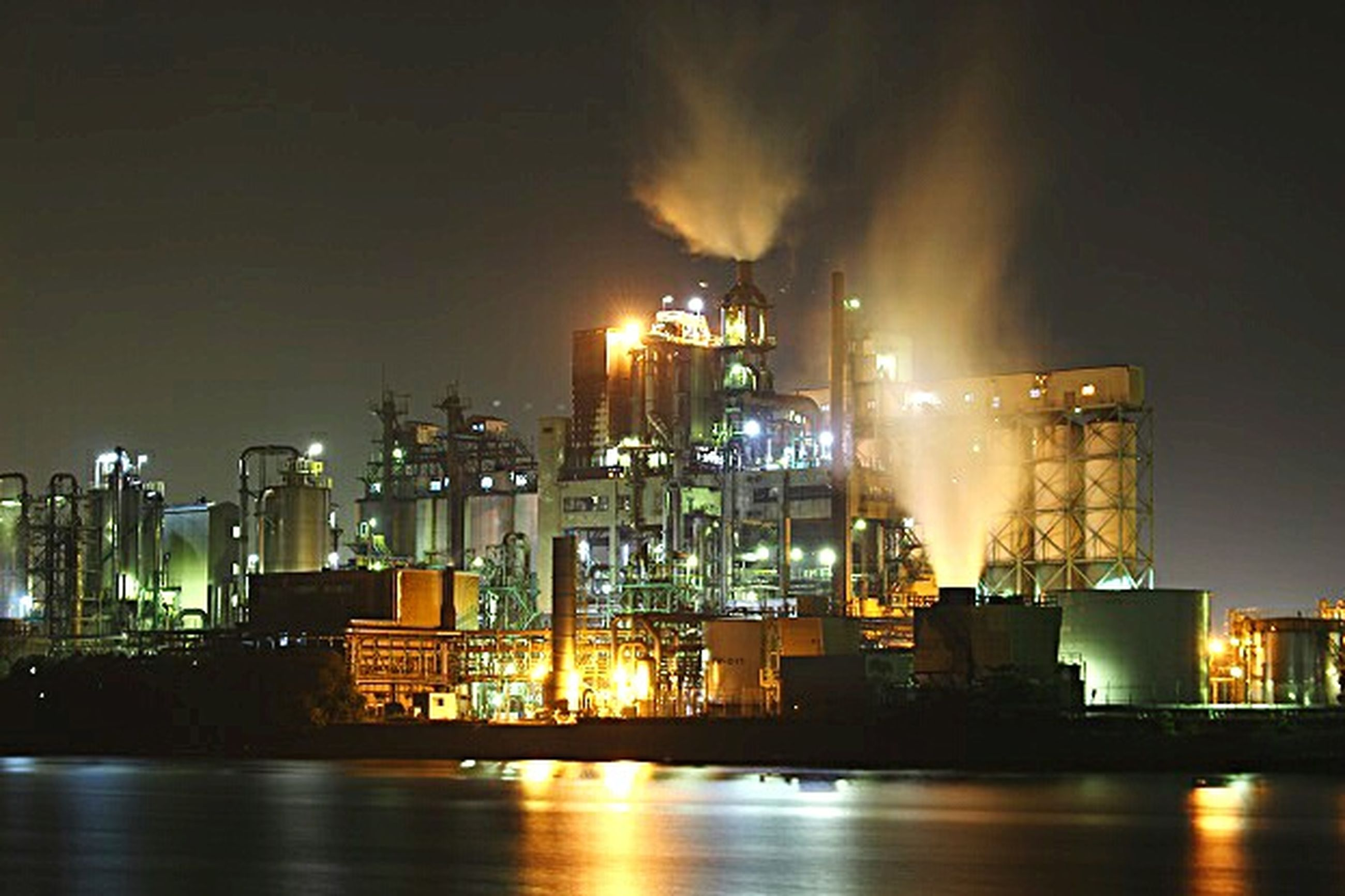 night, factory, industry, fuel and power generation, oil industry, business finance and industry, environment, social issues, illuminated, refinery, no people, gas, oil refinery, outdoors, metal industry, distillation, petrochemical plant